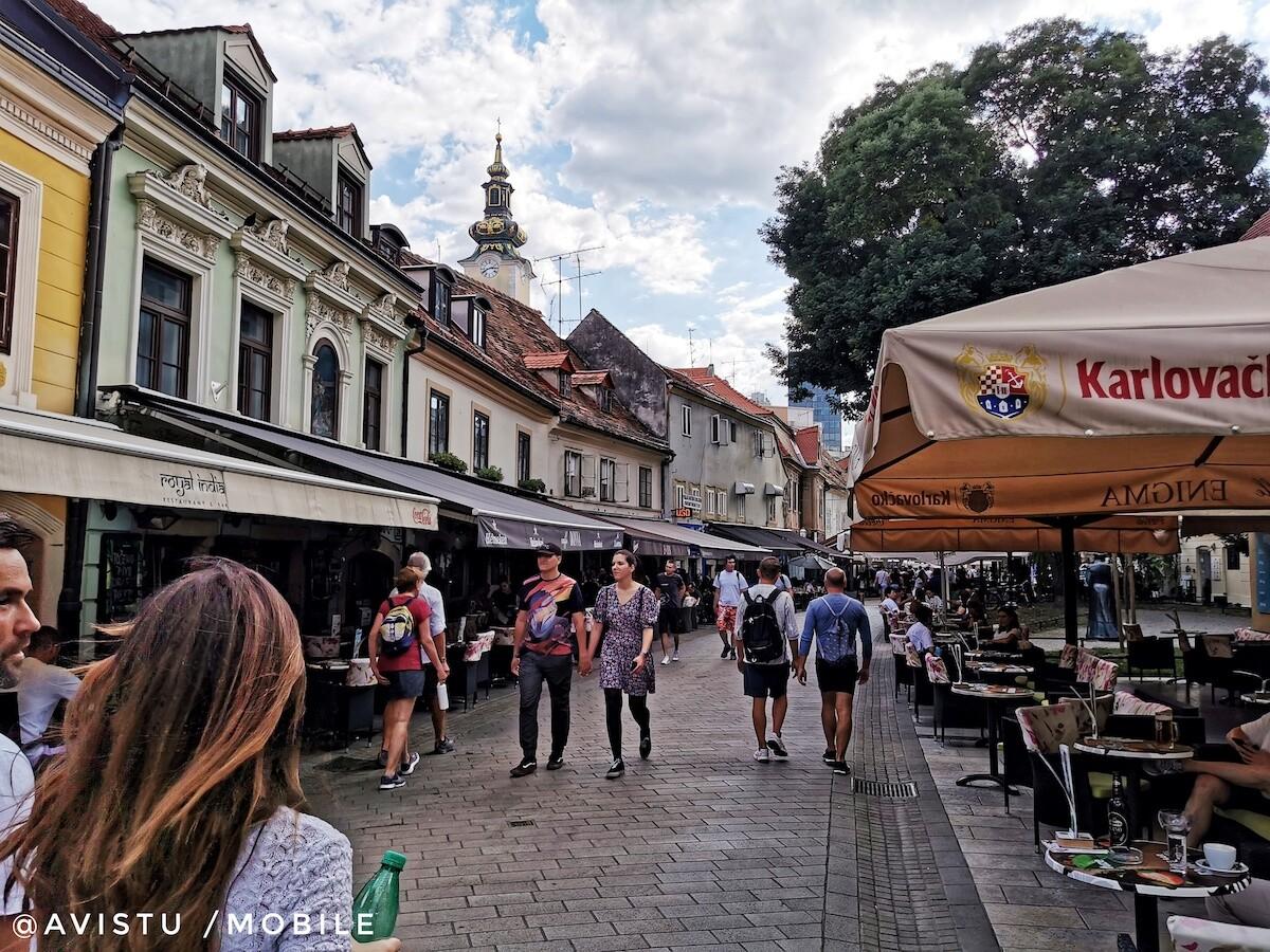 Calle junto a nuestro apartamento en Zagreb Croacia