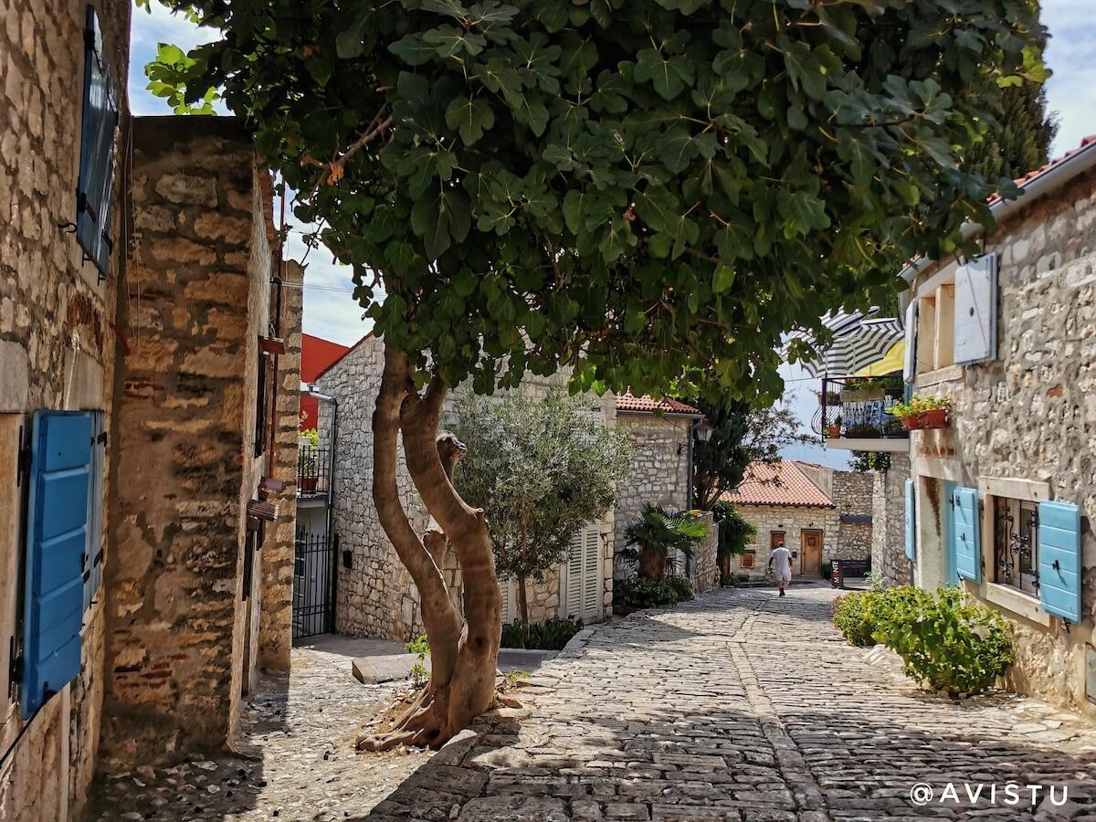 Casco antiguo de Rovijn en Croacia