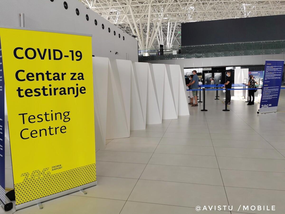 Centro de Tests de Antígenos en el Aeropuerto de Zagreb, Croacia