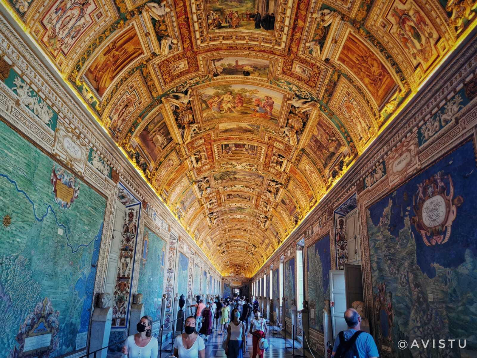 Galería de los Mapas, Museos Vaticanos, Roma
