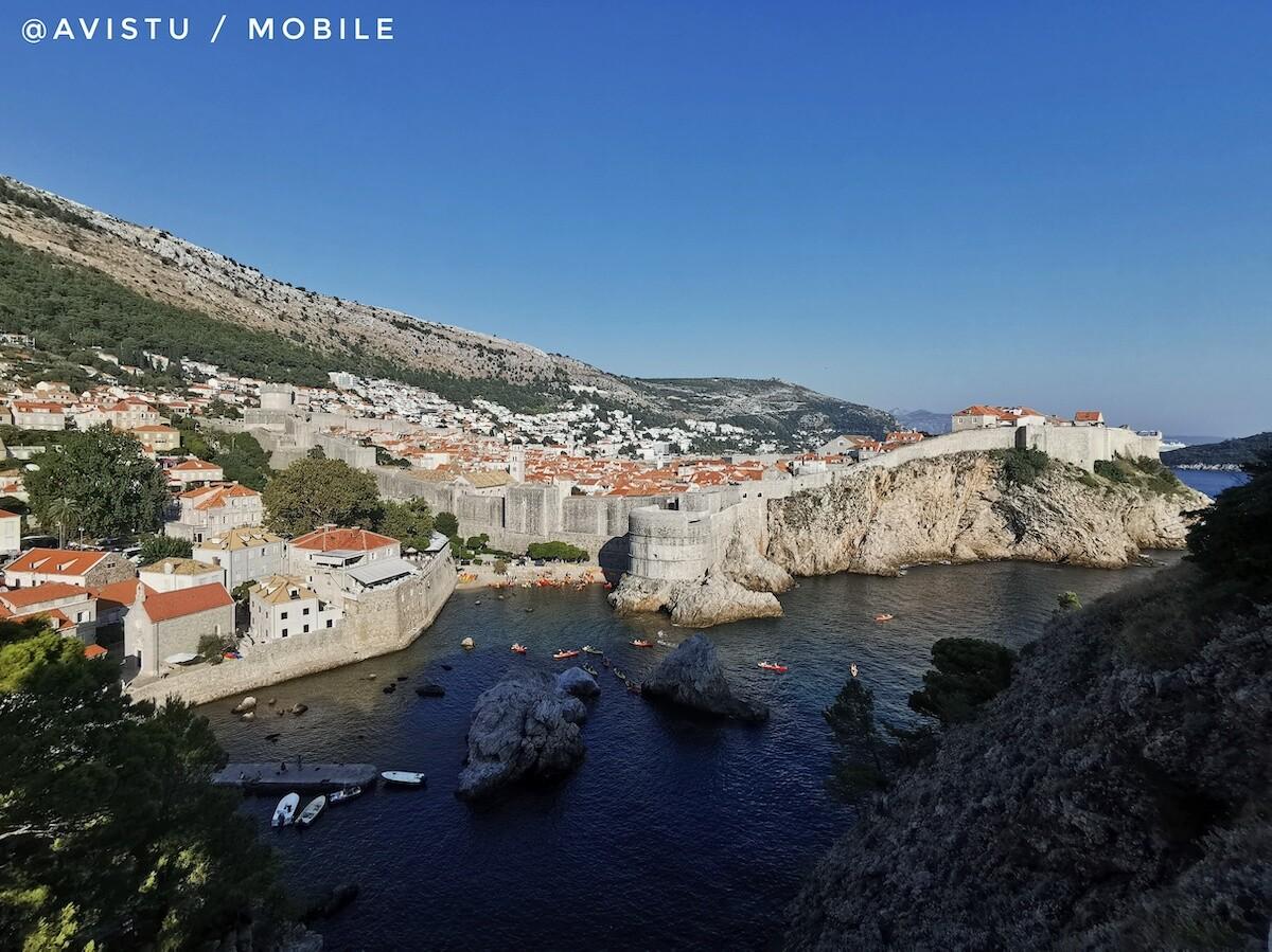 La ciudad amurallada de Dubrovnik en Croacia