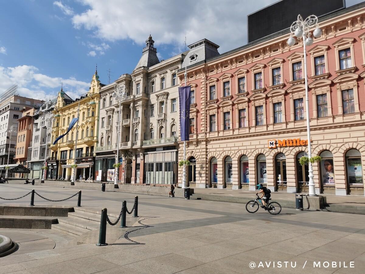 Plaza Ban Jelačić en Zagreb en Croacia