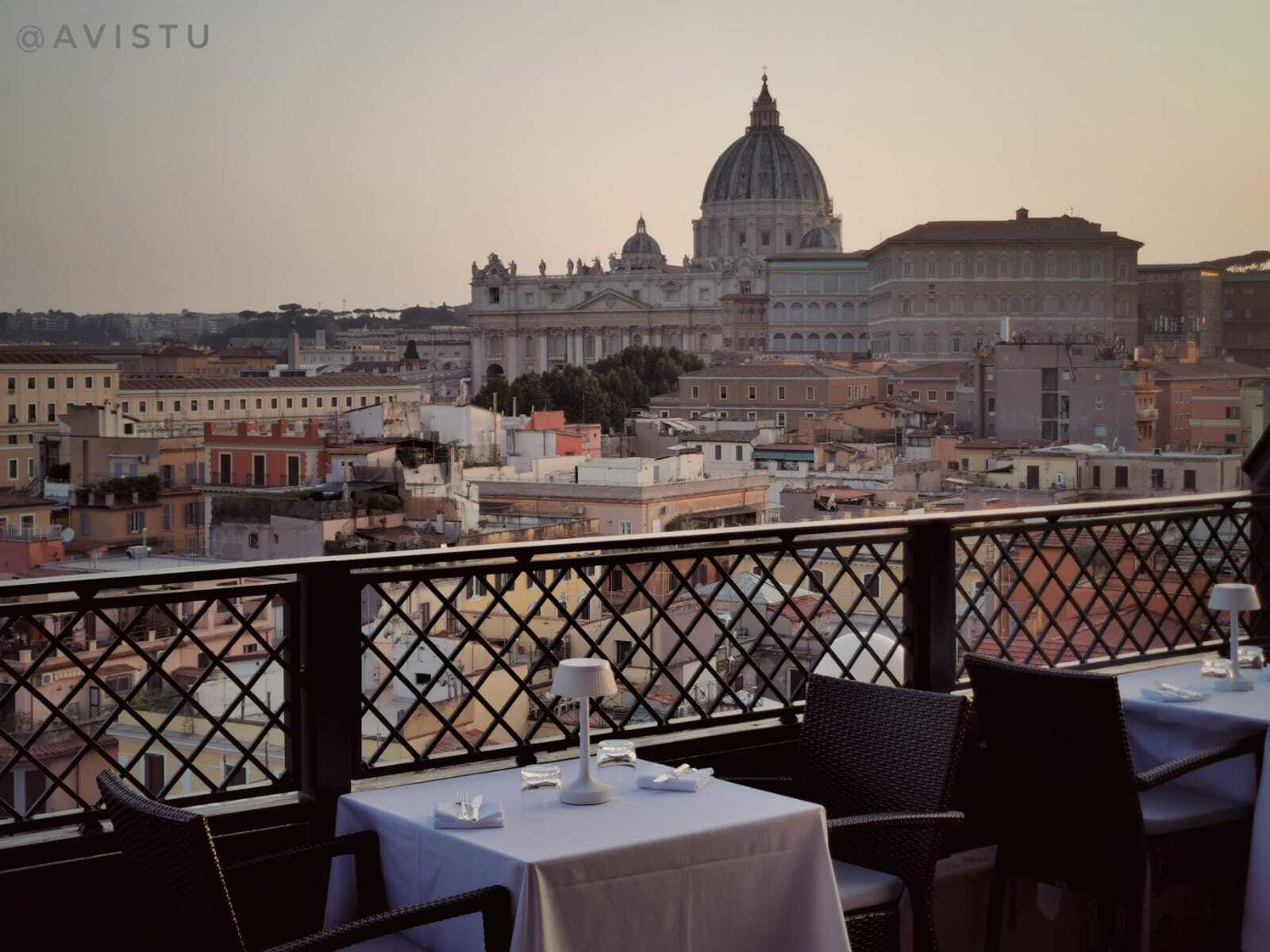 Restaurante Les Étoiles con vistas al Vaticano, Roma