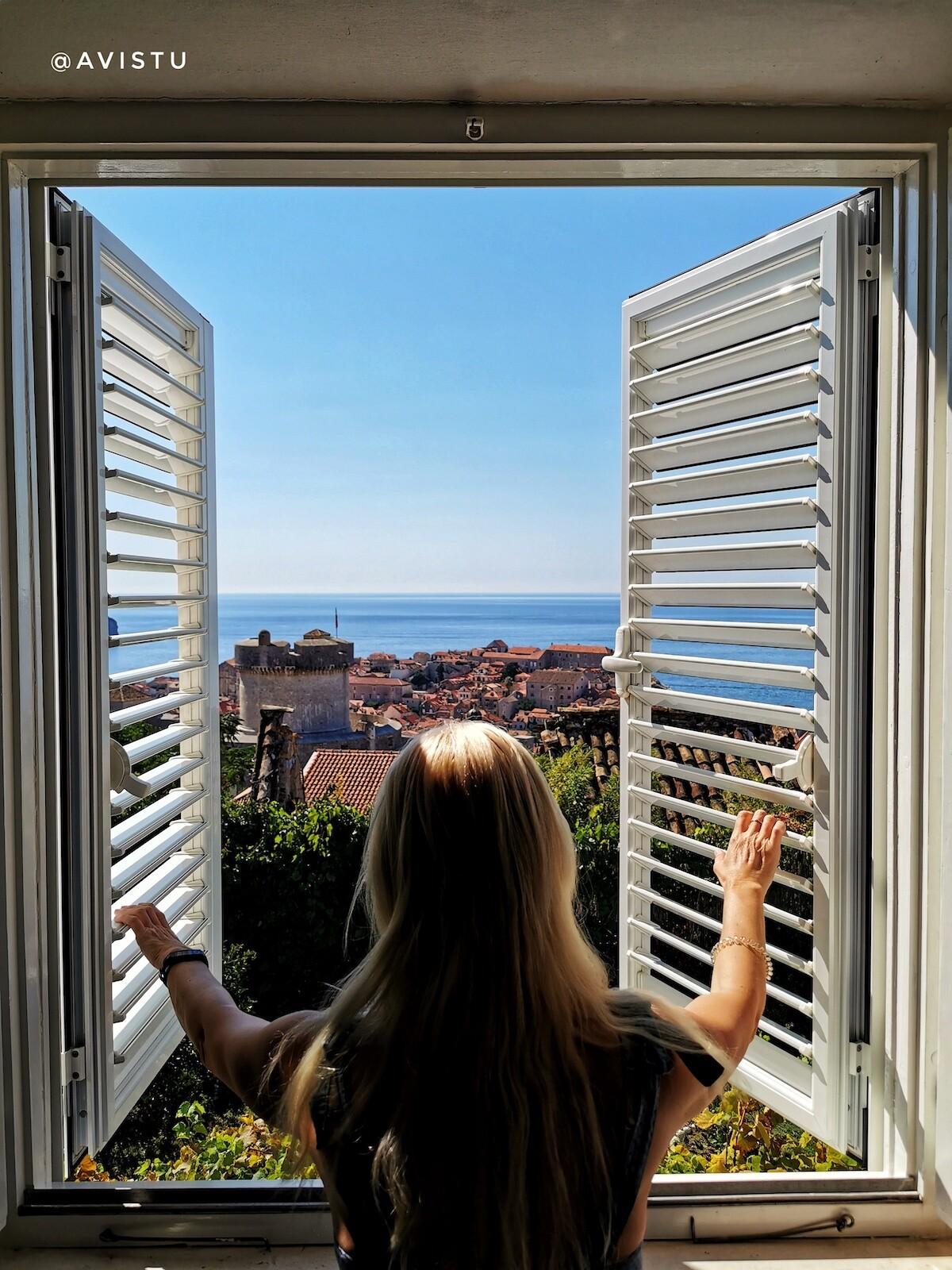 Vistas a Dubrovnik desde nuestra habitación en Rooms Vjera