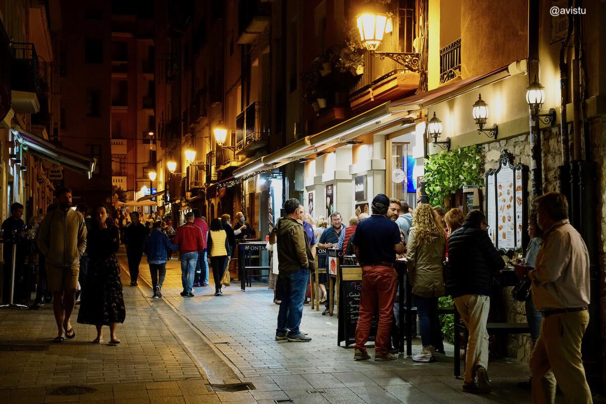 El animado casco viejo de Logroño