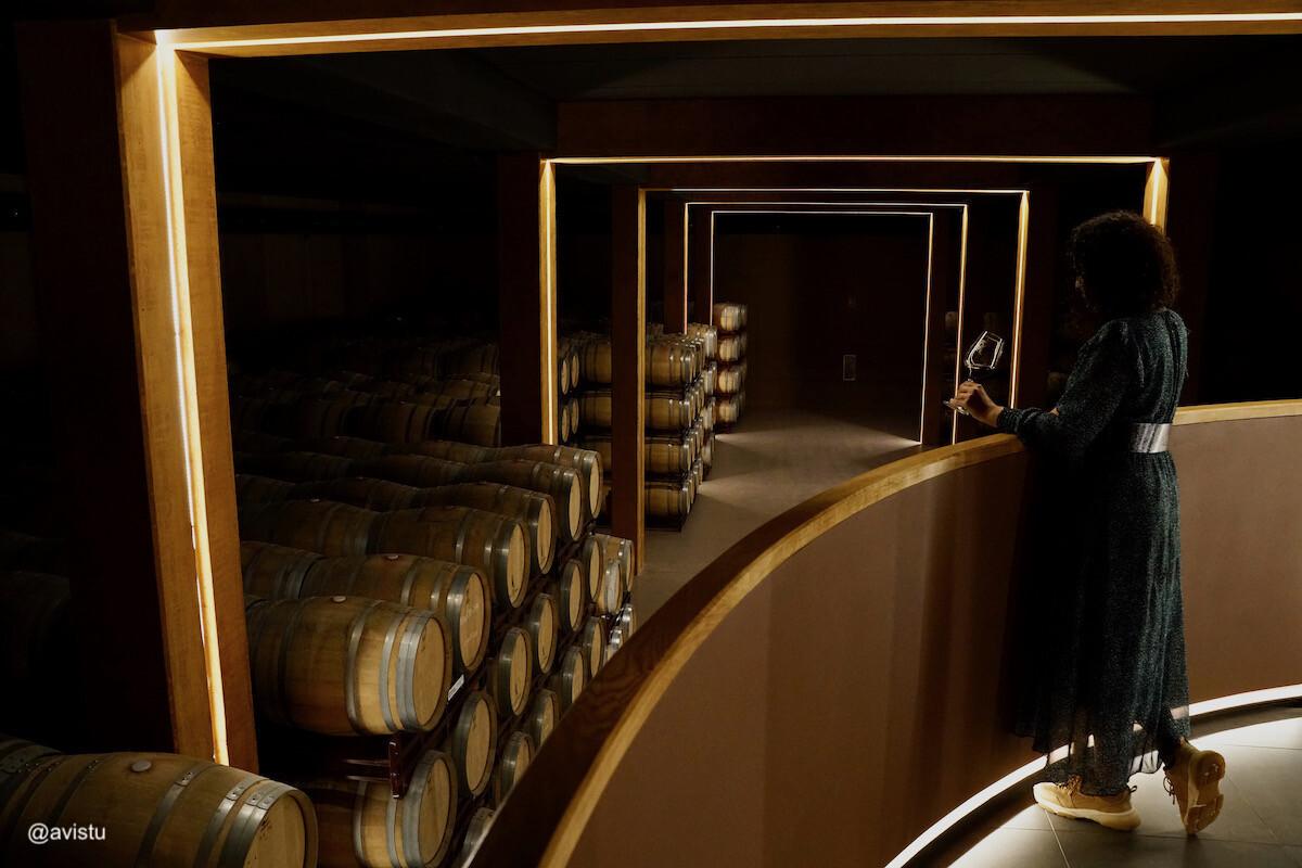 Zona de cata sobre bodega Marqués de Reinosa en La Rioja